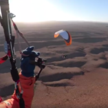 Remote South Australia provided some stunning scenery for paramotoring