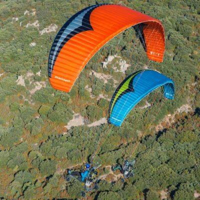 paramotor paraglider wing